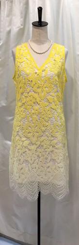 グラデーションカラーのレースドレス