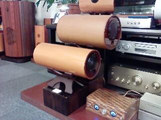 メーター付 木製オリジナルアンプ