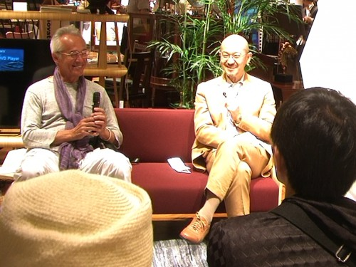 新宿伊勢丹本店で行われた鈴木エドワードさんとのトークショー