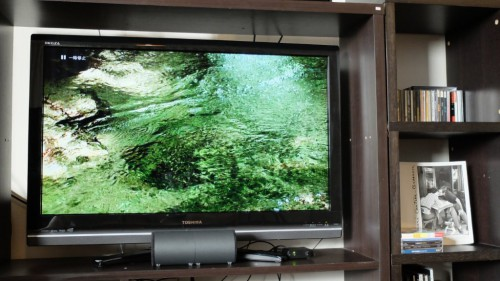 MTVS エムズテレビスピーカー 一体型風の置き方