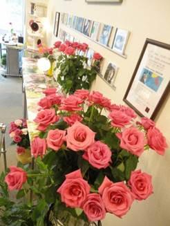 薔薇の香りが漂う試聴ルーム