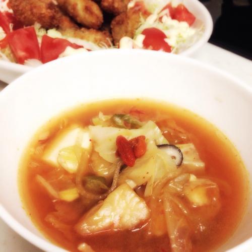 胃腸の働きを助け、老廃物を排出する韓国風スープ
