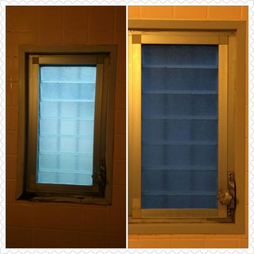窓枠のリフォーム