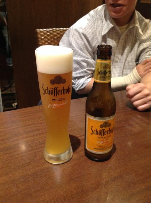 社員研修懇親会で飲んだ白ビール