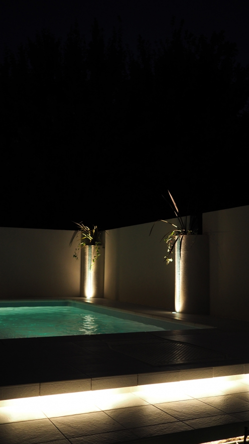 千葉県 柏のプールガーデン 夜景