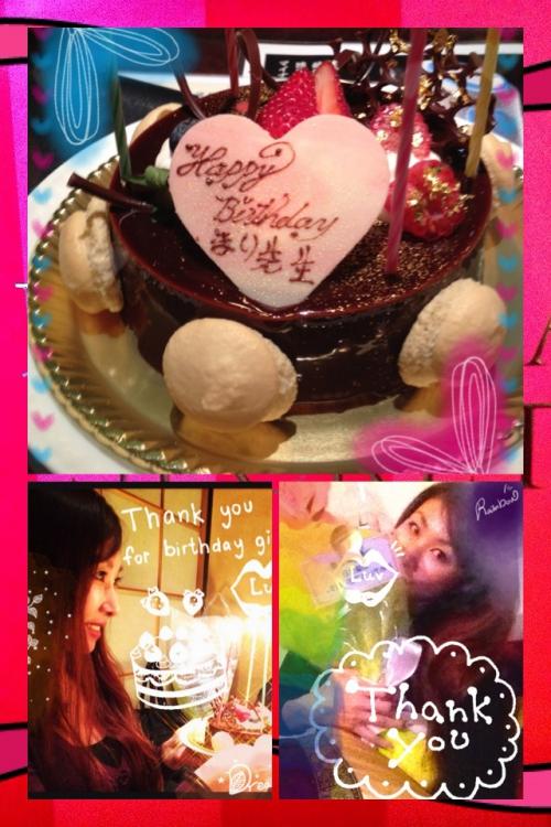 お誕生日のお祝いをして頂きました