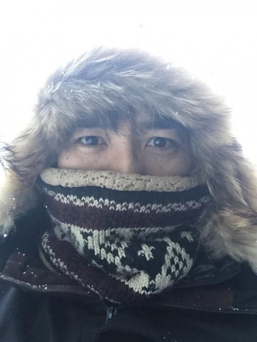 雪の新潟で調査