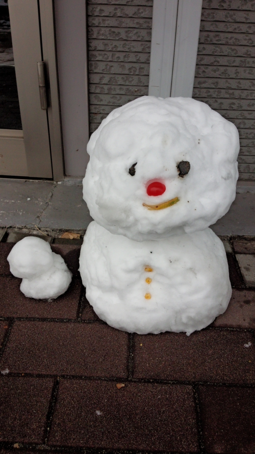 雪降る中の産後の骨盤矯正