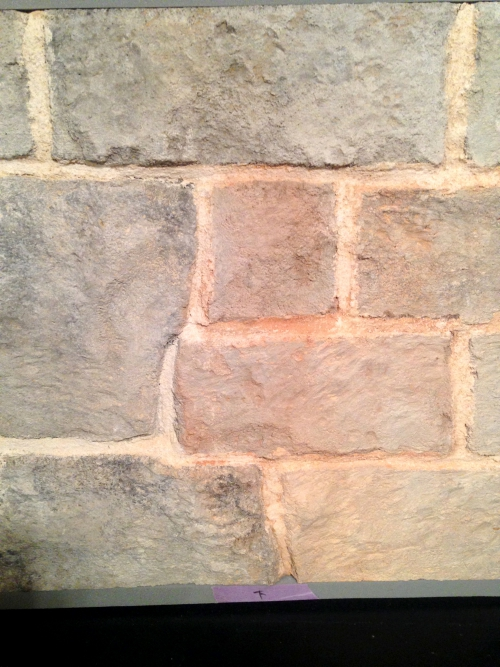 石積み風仕上げの壁のサンプル