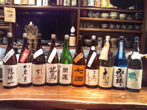日本酒の再入荷は、開運・北島・くどき上手・大信州等です