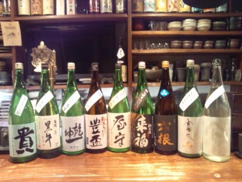 日本酒の今週の新顔は、豊盃・貴・来福・屋守・六根等です