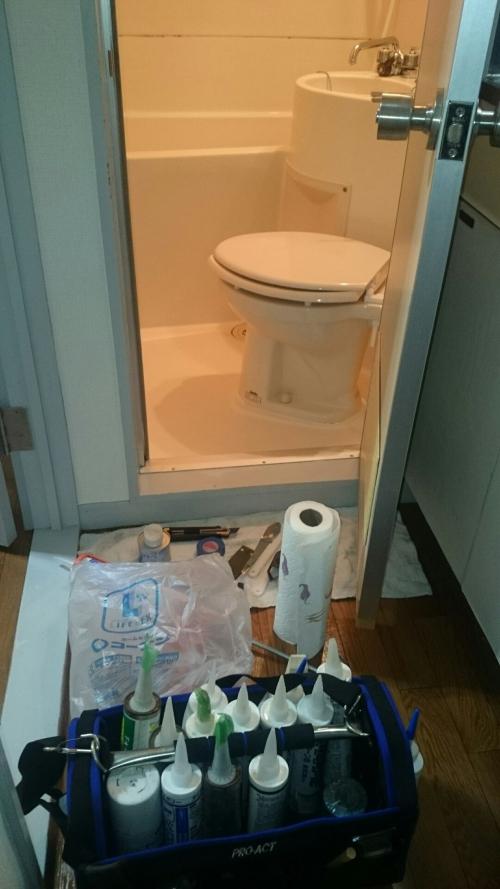 浴室のコーキング打ち替え