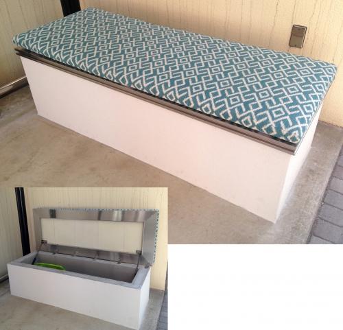 物入れを兼ねたベンチ(ソファーマット付き)