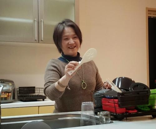 和み庵のキッチンから