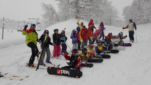 大好評!「あすなろ体操くらぶスキー&スノーボード教室」