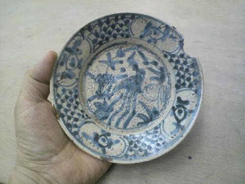 安南の染付。15~16世紀に今のベトナムで焼かれたもの。