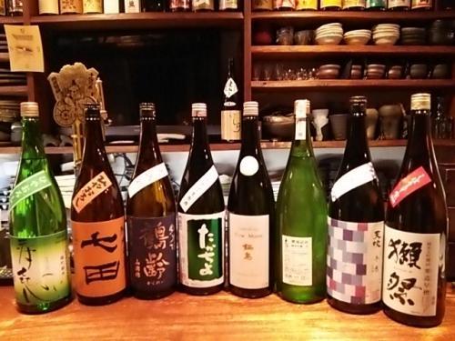 日本酒の再入荷は、鍋島・獺祭・天吹冬色・大信州・鶴齢等です