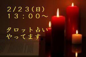 2/23(日)【タロット占い】リピーター続出☆レイカさん