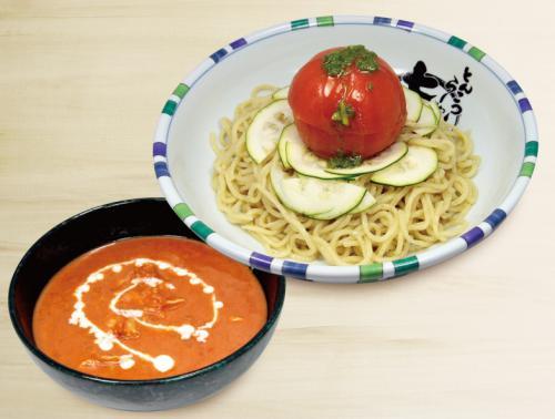冷やしまるごとトマトつけ麺販売開始!