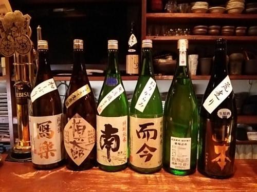 日本酒の新顔その2は、寫楽・南・而今・大信州・山本です!