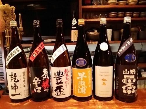日本酒の再入荷は、豊盃・早瀬浦・鍋島・山形正宗等です