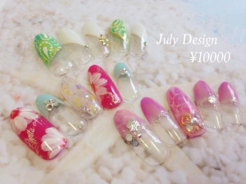 July¥10000デザインネイル
