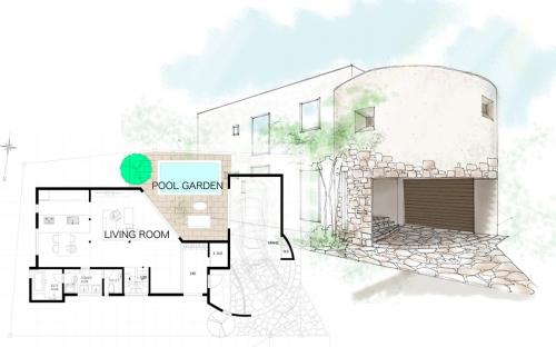 家庭用プールのある庭の提案