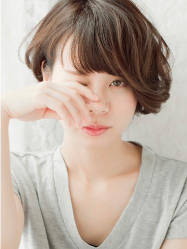 ショートアシメボブ_表参道美容室