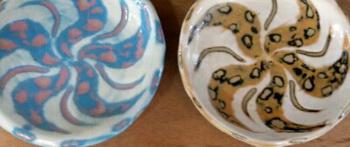 スーパームーンのような、まん丸の皿が2枚焼きあがりました。