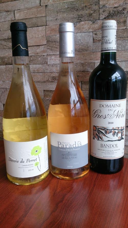 マルセイユの料理にあわせた南フランスワイン