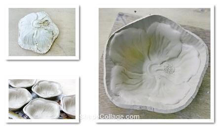 小鉢の中にハイビスカスの花が咲く。