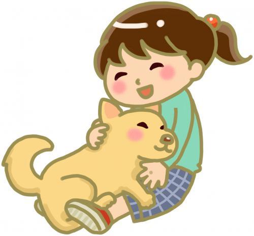 犬、猫を触って感じるところでツボの選択をする
