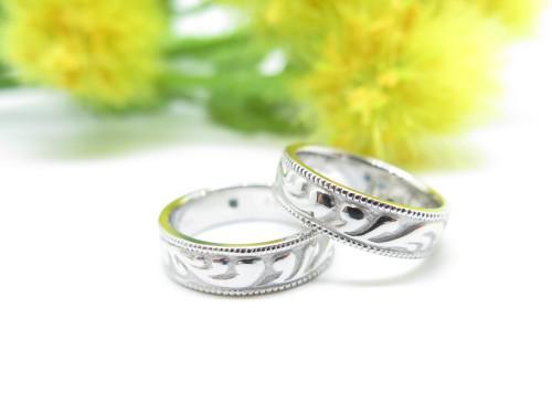 手作り結婚指輪 オーダ-メイド 削り出し 千葉県千葉市