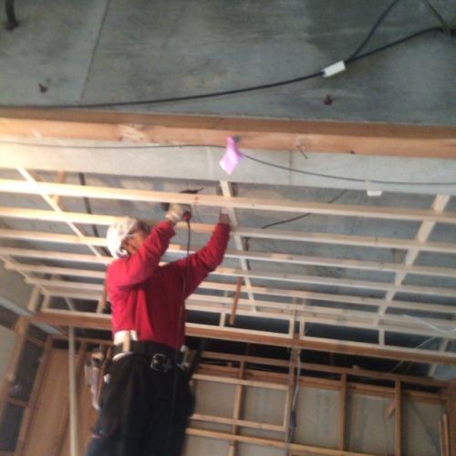 リフォーム 名古屋、改装天井上げ工事