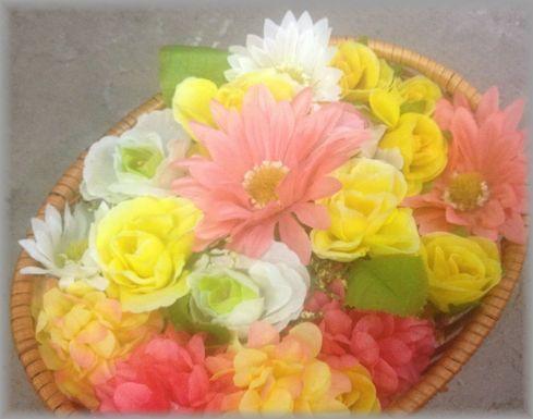 ネイルアートのサンプル写真をお花背景にしてみました!!