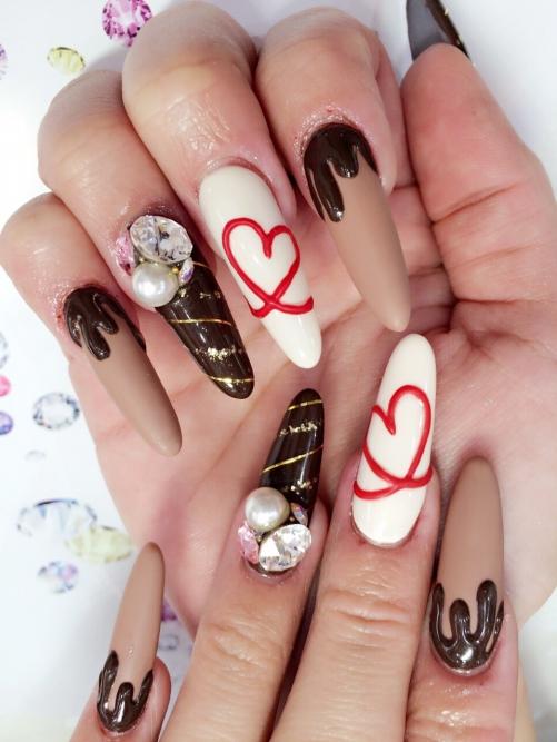 バレンタイン☆チョコネイル