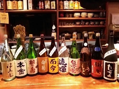 日本酒の新顔は本金・松の寿・奥能登の白菊・能古見・鍋島等