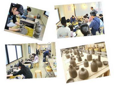 電動ロクロの集中講座開催しました。 陶芸教室 国立けんぼう窯