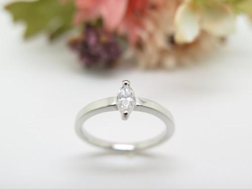 マーキスカットダイヤモンド プラチナ オーダー
