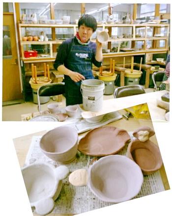 陶芸芸人カンカンさん。今年初めて登場。陶芸教室 けんぼう窯
