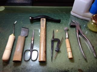 手作り靴の七つ道具