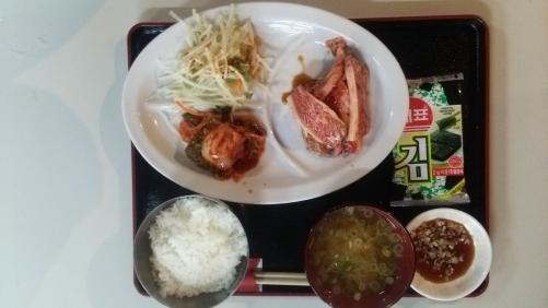 焼き肉ランチ、カルビ定食