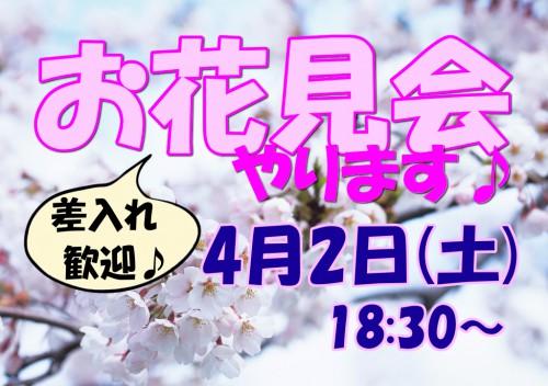 ダイエットも一休みして…★♪お花見会♪★4/2(土)開催!!