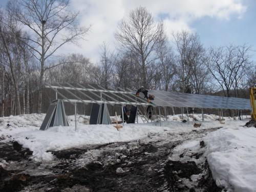 北の沢太陽光発電設備設置工事