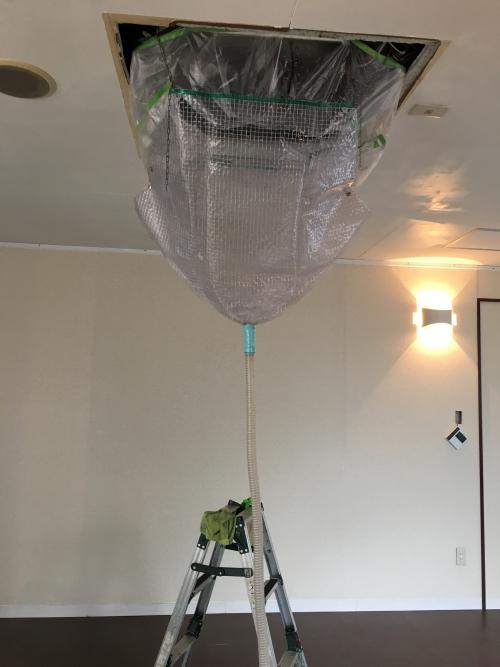 港北区 業務用エアコン分解お掃除