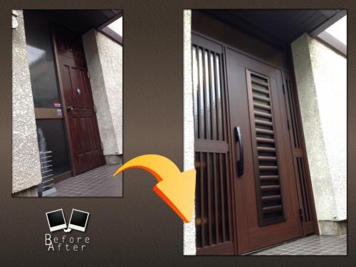 刈谷市 S様 玄関ドア工事です。