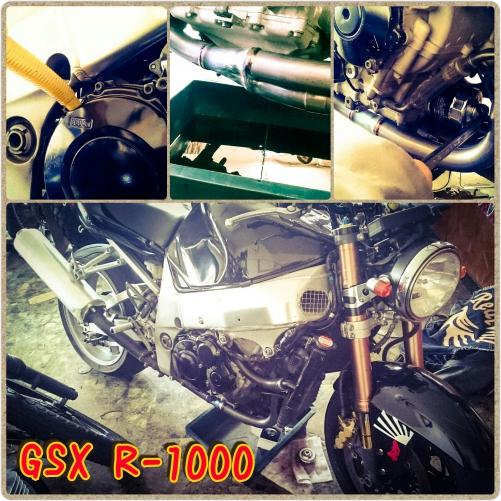 GSX R1000のエレメント&オイル交換