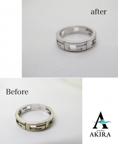 K18ホワイトゴールド 指輪サイズ直し ブランド