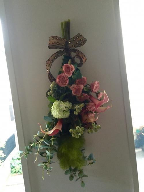 幸せの花束スワッグ