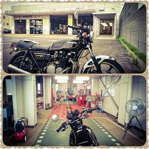 Kawasaki KZ1000 MK.ブラックの車検登録